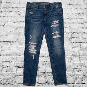 American Eagle Distressed Skinny Stretch Jeans EUC